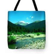 Small Stream Foreground The Rockies Tote Bag