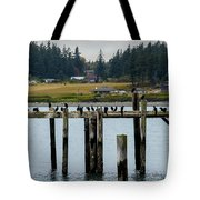Small Village Along The Columbia River Tote Bag by Mae Wertz