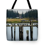Small Village Along The Columbia River Tote Bag