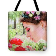 Smelling The Roses Tote Bag