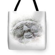 Smiling Stone Face Tote Bag
