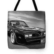 Smokey And The Bandit Trans Am In Mono Tote Bag