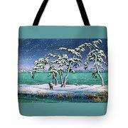 Snow At Hi Marsh, Mito - Digital Remastered Edition Tote Bag