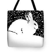 Snow Bunny Rabbit Holiday Winter Tote Bag