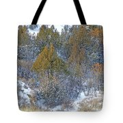 Snow-dusted In West Dakota Tote Bag