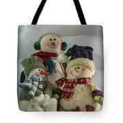 Snow Folk Tote Bag