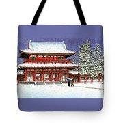 Snow In The Heianjingu Shrine - Digital Remastered Edition Tote Bag