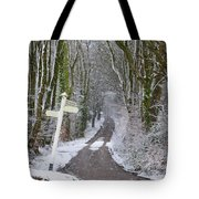 Snow In The Trees Tote Bag
