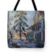 Snow In Town Tote Bag