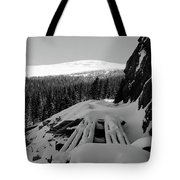 Snow Trellis Tote Bag