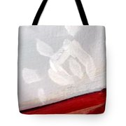 Snowflake With Red Tote Bag