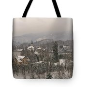 Snowy Bled In Slovenia Tote Bag