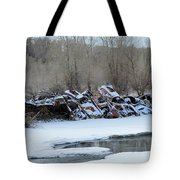 Snowy Graveyard Tote Bag