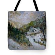 Snowy Natural Landscape Tote Bag