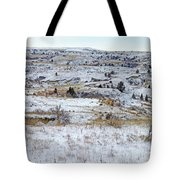 Snowy Slope County Tote Bag
