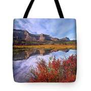 Sofa Mountain Reflecteion, Waterton Tote Bag