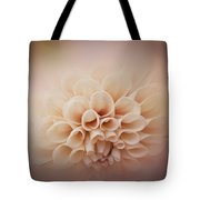 Soft, Subtle Dahlia Tote Bag