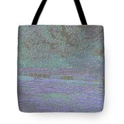 Solitude In Neon Glow Tote Bag