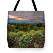 Sonoran Valley Sunset V1922 Tote Bag by Mark Myhaver