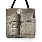 South Carolina State Hospital Asylum Black And White Tote Bag by Lisa Wooten