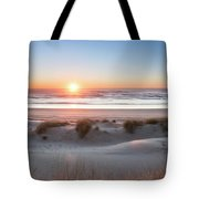South Jetty Beach Sunset, No. 4 Tote Bag by Belinda Greb