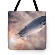 Spacex Bfr Epic Launch Tote Bag