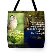 Sparrows Music Tote Bag