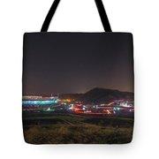 Speedway In Lights At Bristol Motor Speedway 2018 Tote Bag