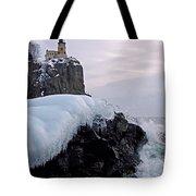 Split Rock Lighthouse Winter Tote Bag