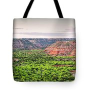 Sprawling Panorama Of Palo Duro Canyon And Capitol Peak - Texas State Park Amarillo Panhandle Tote Bag