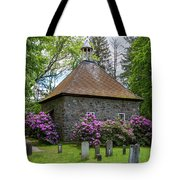 Spring At The Crispell Memorial French Church Tote Bag