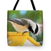 Spring Chickadee Tote Bag
