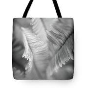 Spring Fern Macro In Black And White Tote Bag