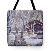 Spring Snow  Tote Bag