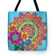 Springtime Mandala Tote Bag by Becky Herrera