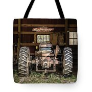 Square Format Old Tractor In The Barn Vermont Tote Bag