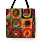 Wassily Kandinsky Colour Study Square Concentric Circles Tote Shopping Bag
