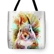 Squirrel Painting Tote Bag