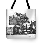 St Charles Hall Carroll College Helena Montana Tote Bag