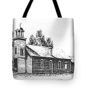 St. Mary's Mission, Stevensville, Montana Tote Bag
