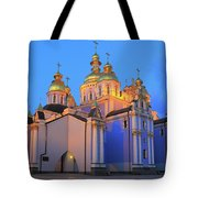 St Michael's Golden-domed Monastery At Dusk Kiev Ukraine Tote Bag