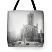 St Nicholas Church Ghent Belgium Black And White Tote Bag