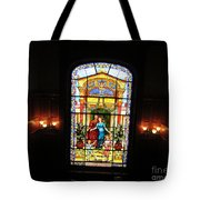 Stained Glass At Moody Mansion Tote Bag