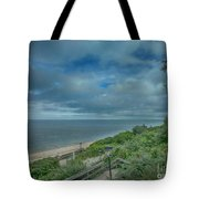 Stairs To The Beach Tote Bag by Judy Hall-Folde