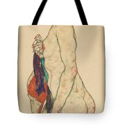 Standing Nude With A Patterned Robe, 1917  Tote Bag