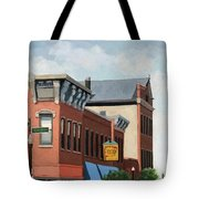 Standing Tall -local City Buildings Tote Bag
