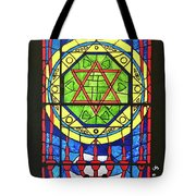 Star Of David Stained Glass Tote Bag