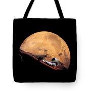 Starman In Orbit Around Mars Tote Bag
