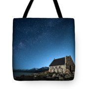 Stars And Midnight Blue Tote Bag