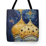 Stars Near And Far Tote Bag by Maria Langgle